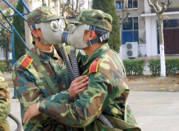 Kissing Is A Bit Difficult In Army