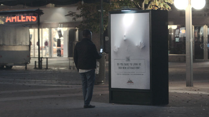 A Haunted Poster Scares People In Stockholm