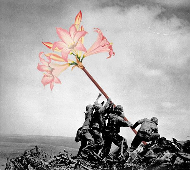 guns-flowers-vintage-photos-collage-art-blick-1