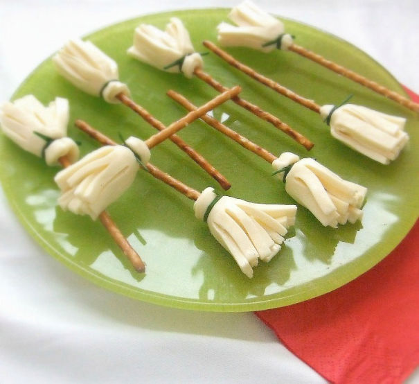 Cheese And Pretzel Brooms