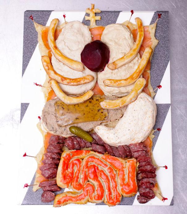 Human Torso Appetizer Plate