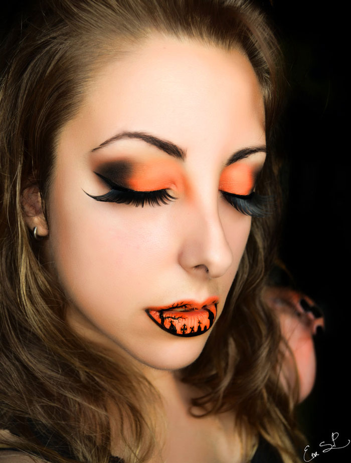 beautifully creepy halloween lip makeup ideas by eva. Black Bedroom Furniture Sets. Home Design Ideas