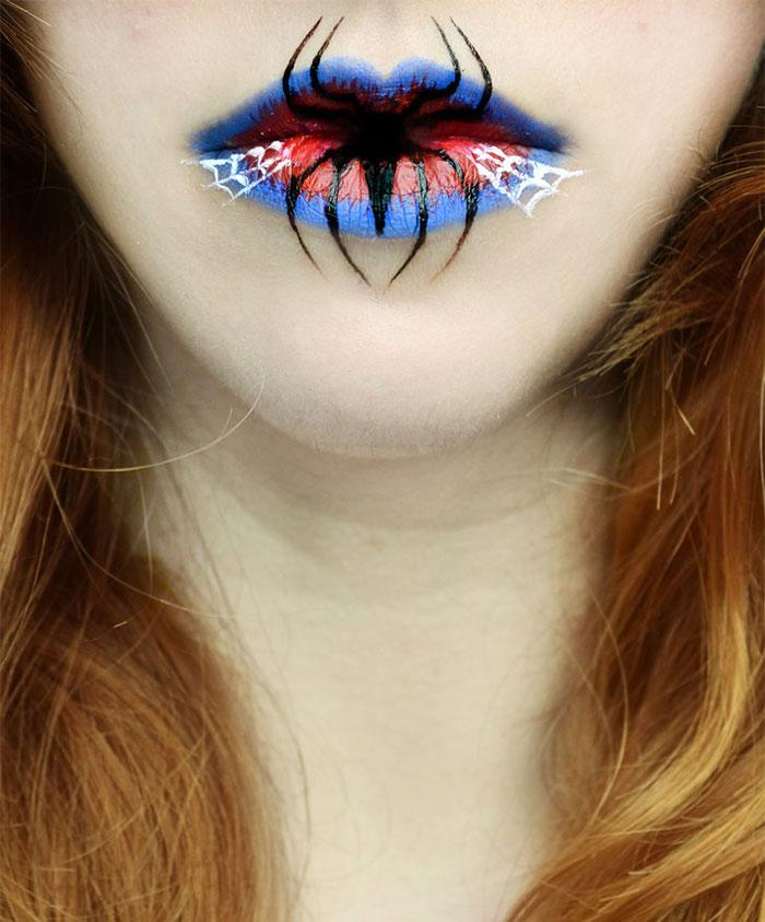 Beautifully Creepy Halloween Lip Makeup Ideas By Eva Pernas | Bored Panda
