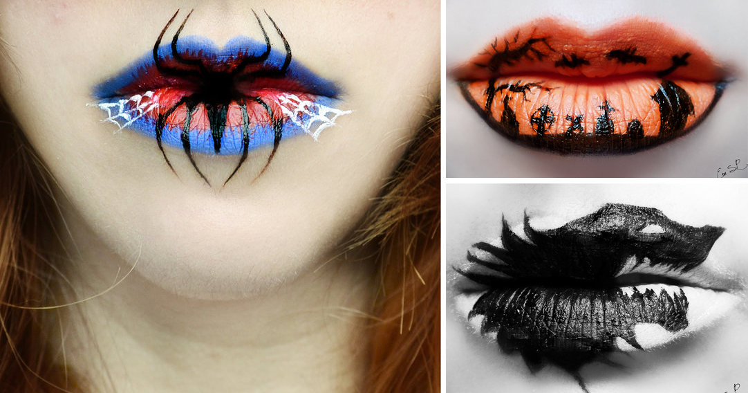 Beautifully Creepy Halloween Lip Makeup Ideas By Eva Pernas | Bored Panda
