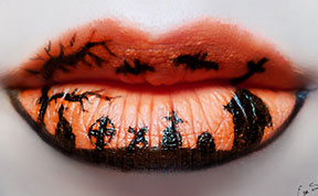 Beautifully Creepy Halloween Lip Makeup Ideas By Eva Pernas
