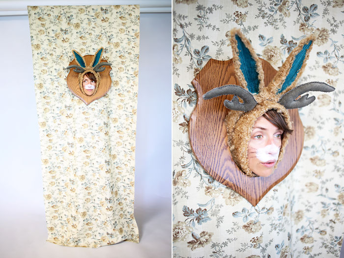Wall Mounted Jackalope