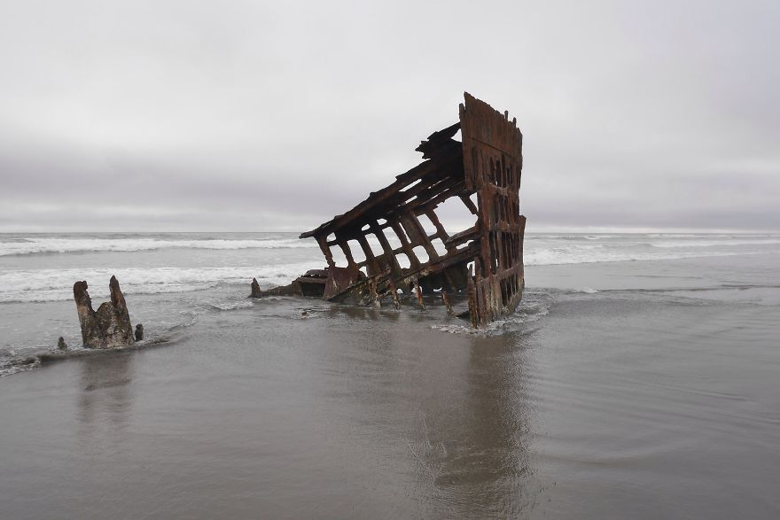 Wreck Of Peter Iredale, Oregon