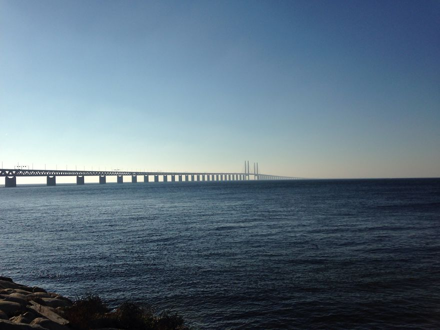Öresund Bridge, Between Copenhagen And Malmö, Sweden And Denmark