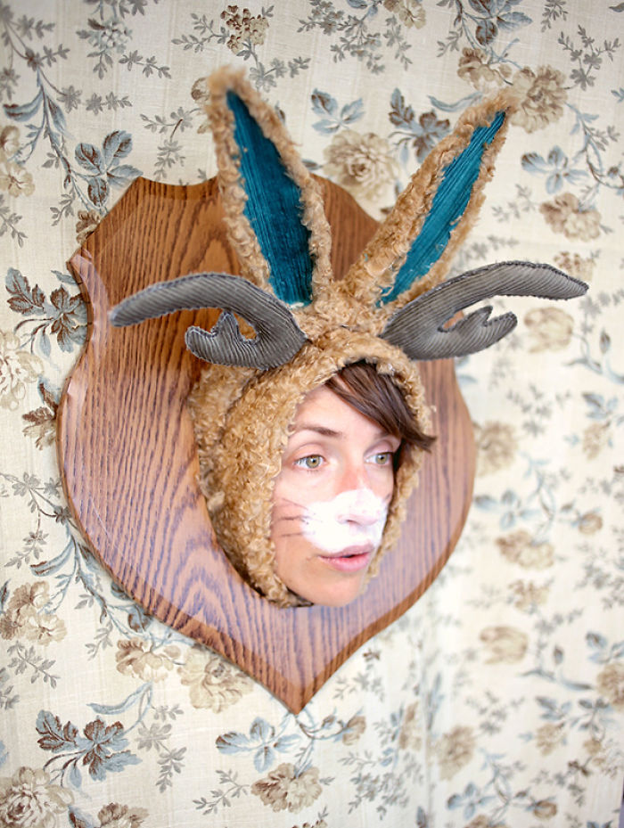 Wall Mounted Jackalope Costume