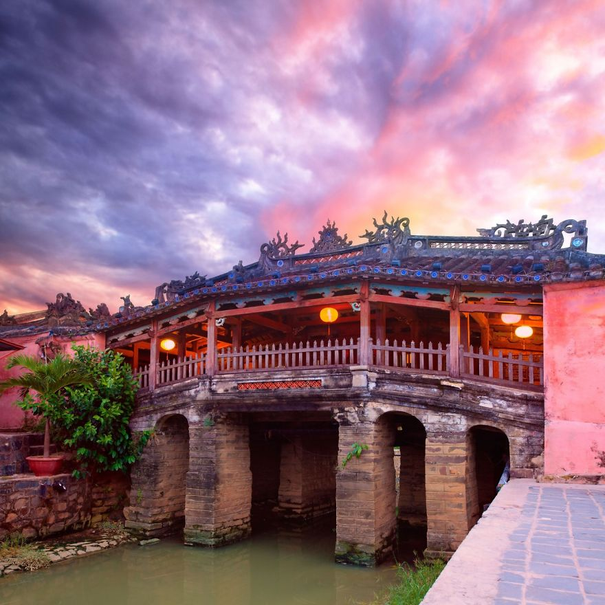 Japanese Bridge In Hoi An, Vietnam