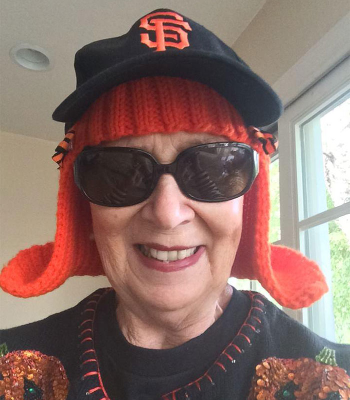 Grandmother Battling Cancer Knits Herself New Hair
