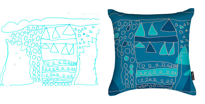 Designer Mum Turns Her 4-Year-Old Daughter's Drawings Into Surface Patterns