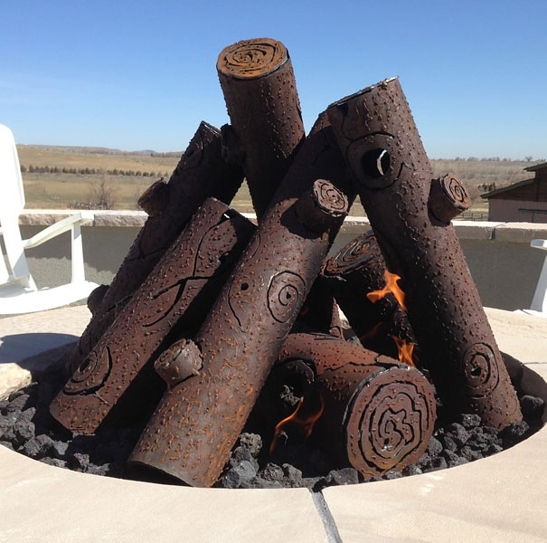 Steel Fire Pit Gas Logs