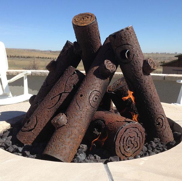 Steel Fire Pit Gas Logs