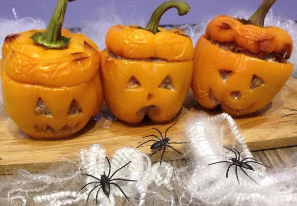 Meatloaf Pepper Pumpkins