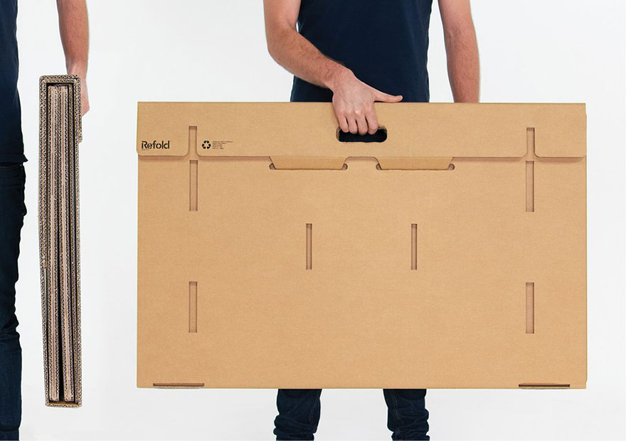 Refold Portable Cardboard Standing Desk 4