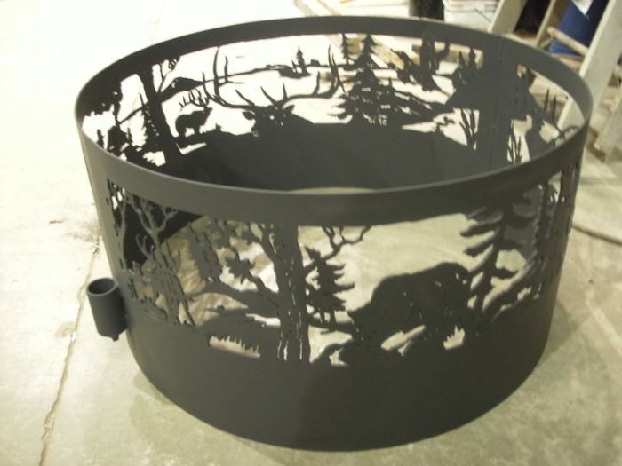 Wildlife 1/4 Steel Firering Hand Drawn And Cut Out By Me Brokenhillsteel