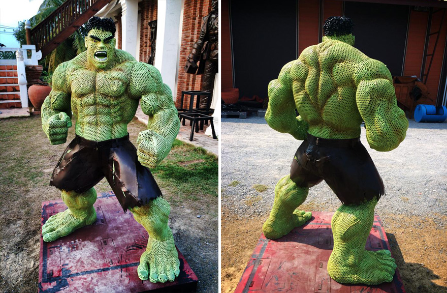 Stunning Scrap Metal Sculptures Of The Hulk And Other