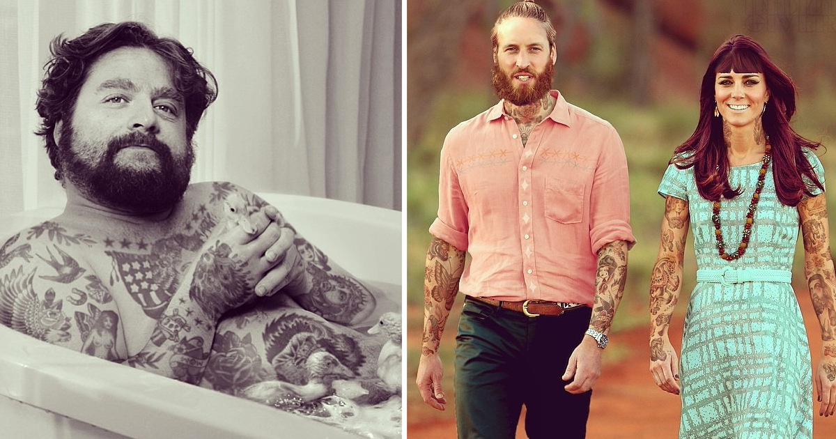 Artist Tattoos Celebrities In Photoshop | Bored Panda