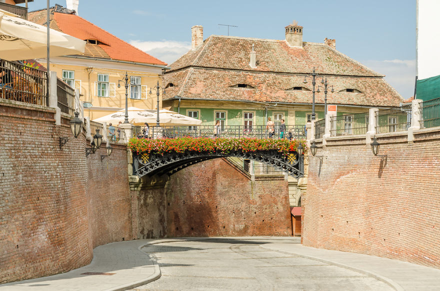 The Bridge Of Lies, Sibiu, Romania. Oldest Cast-iron Bridge, Installed In Place Of A Wooden One