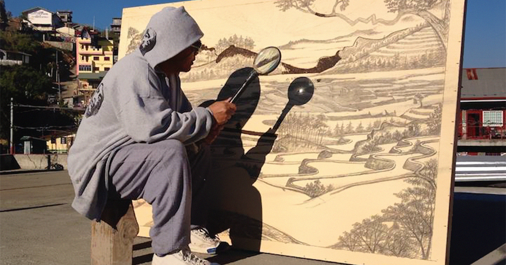 Artist Uses The Power Of The Sun And A Magnifying Glass To Create Stunning Drawings