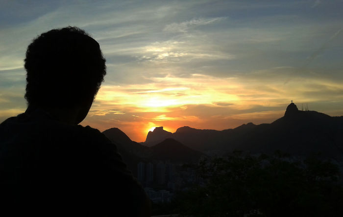 Sunset From The Sugar Loaf Mountain In Rio De Janeiro, Brazil