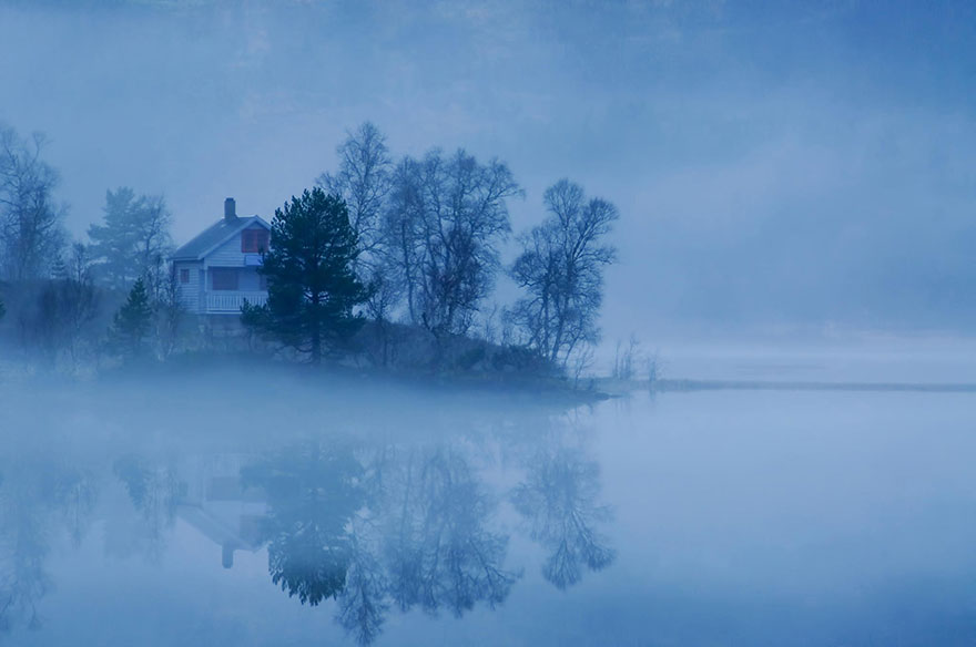 Fog By The Lake, Norway