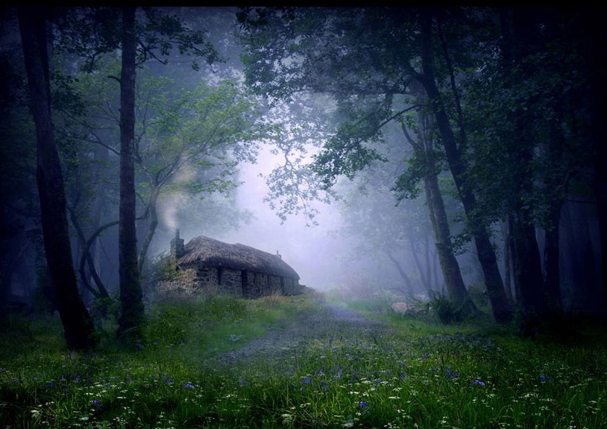 Little Houses Or Cottages Surrounded By Wilderness For The Solitary Soul