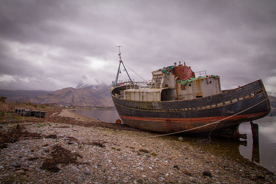 Wreck In Fort William, Scotland