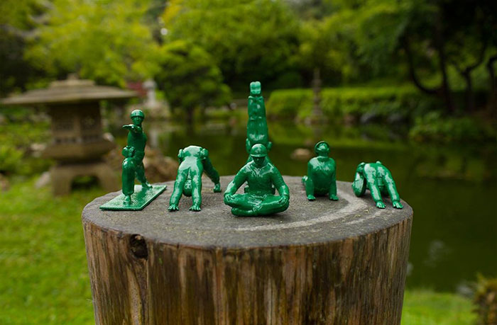 Toy Inventor Turns Iconic Toy Soldiers Into Yoga Practitioners