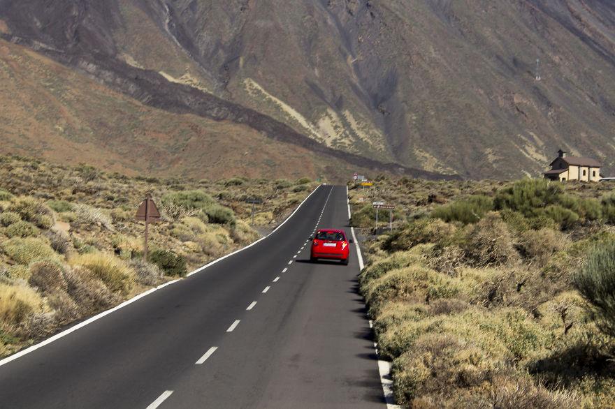 Road To Teide Volcano On Tenerife Island, Spain