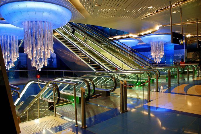 Metro Station In Dubai – Uae