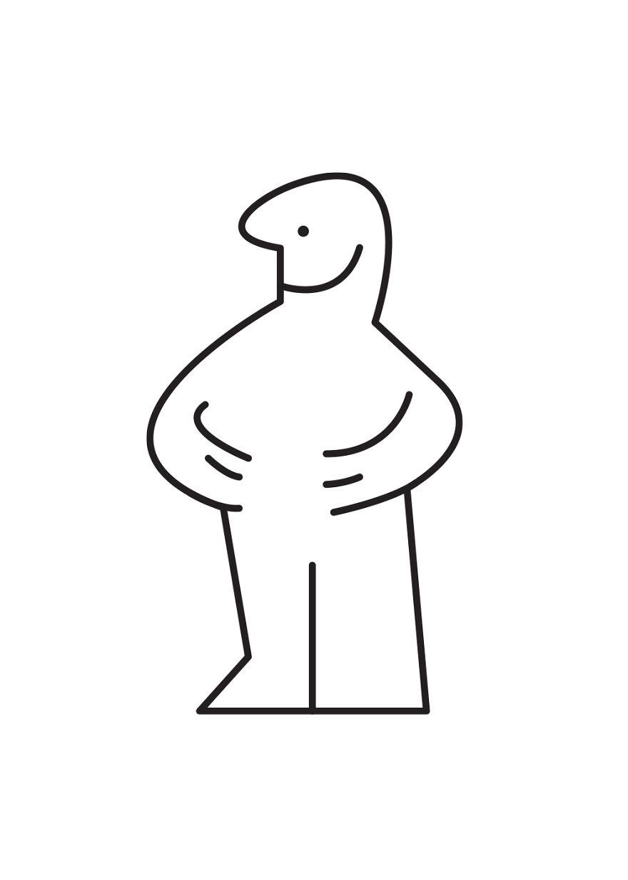 D Line Drawings Ikea : Ikea man turned into famous cartoon characters bored panda