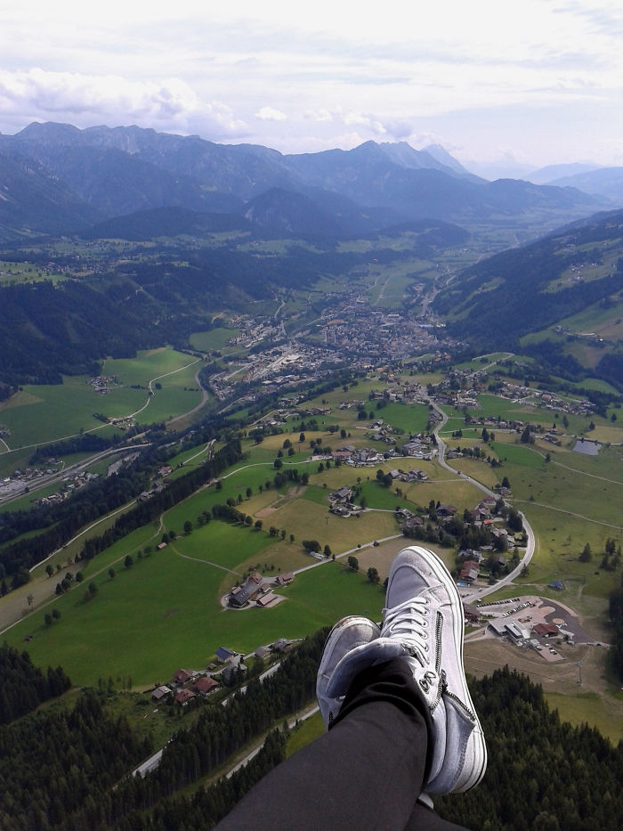 Paragliding Over The Austrian Alps