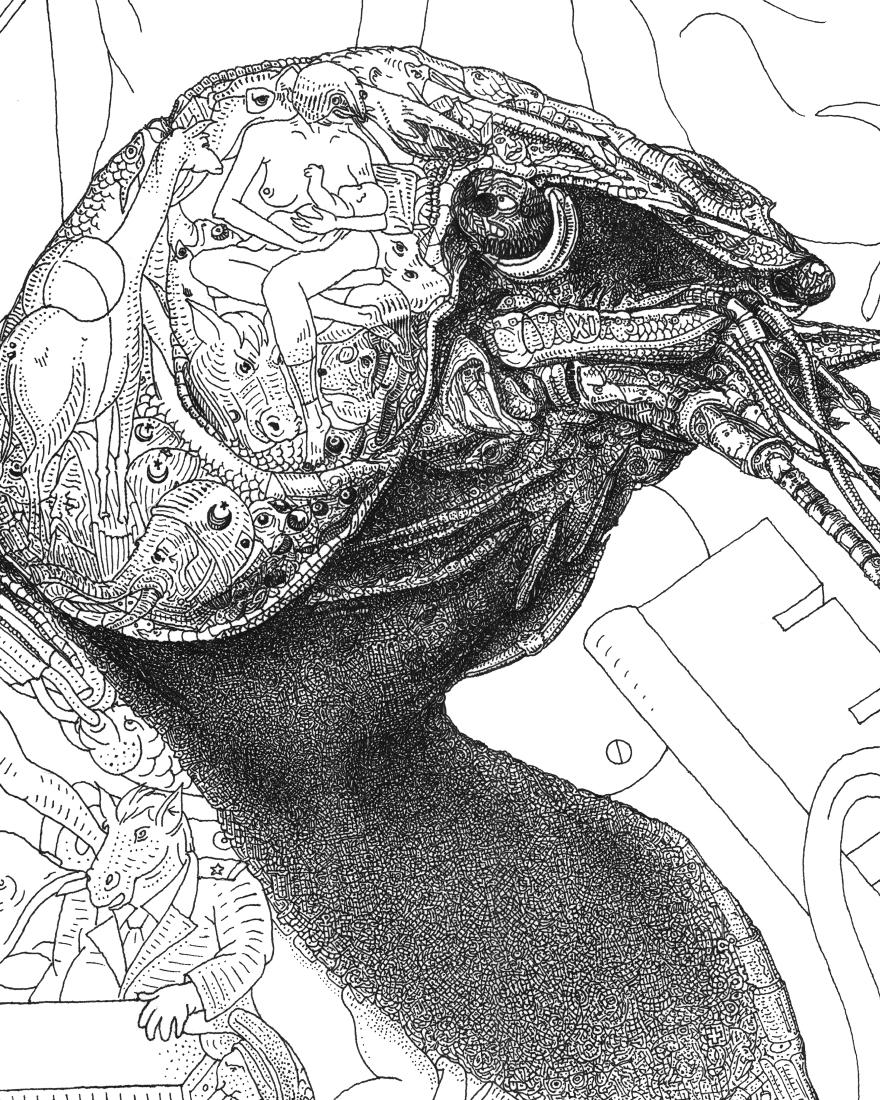 illustration made of hundreds of illustrations