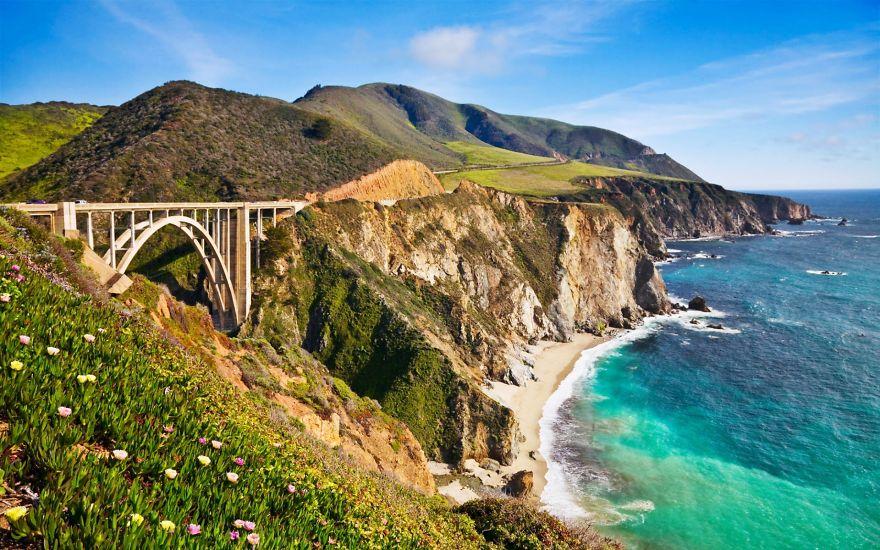 State Route 1, California, Usa