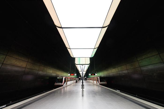 Hamburg, Hafencity Metro Station