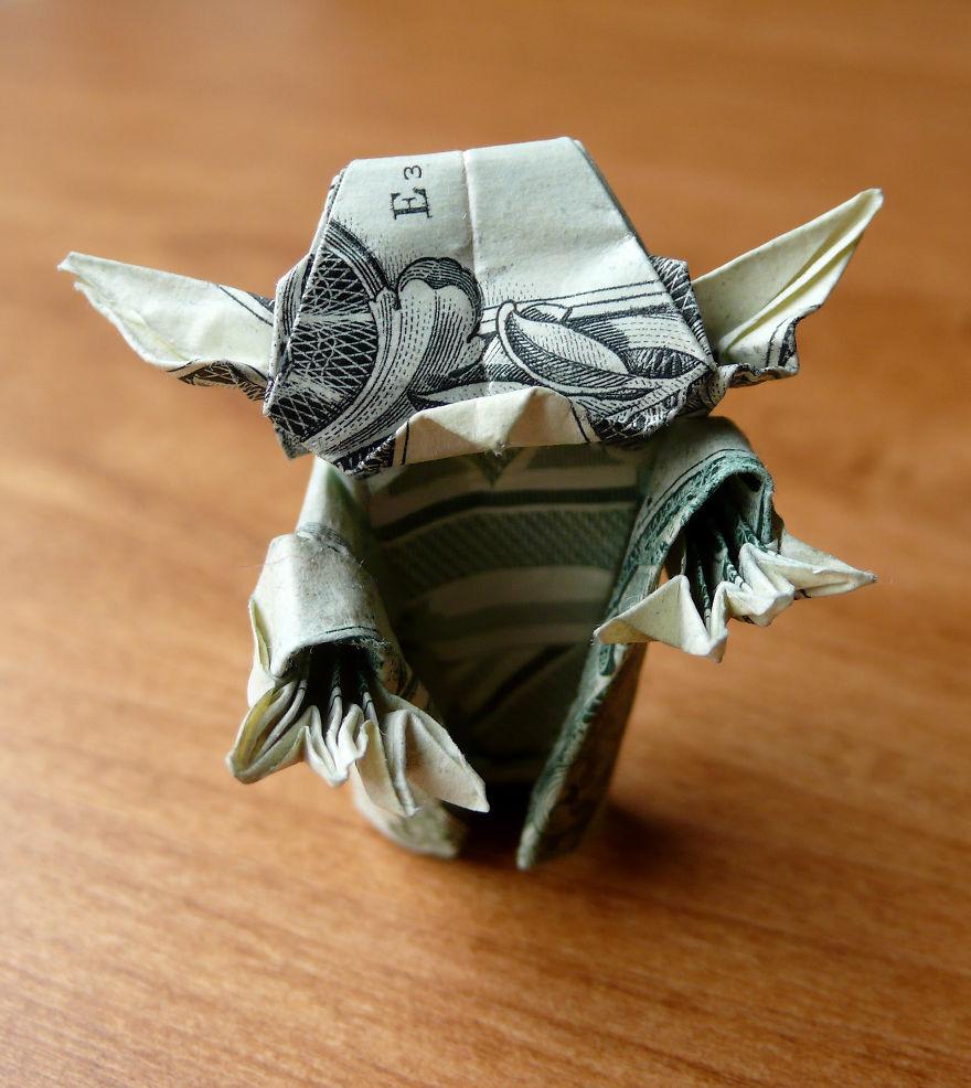 dollar bill origami by craigfoldsfives bored panda