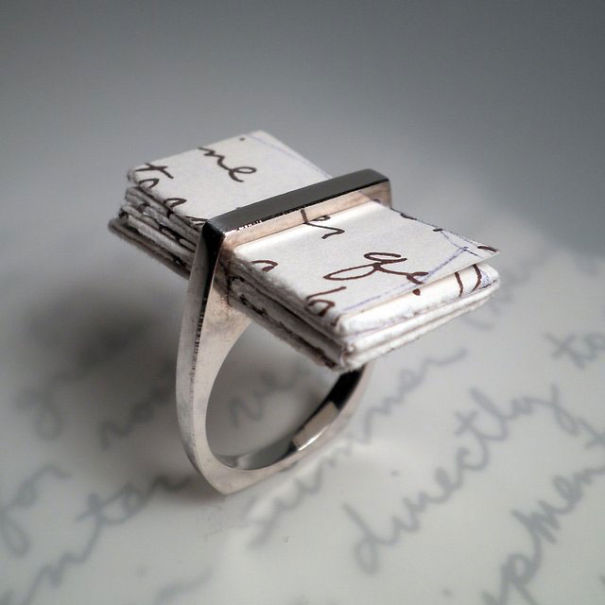 Engagement Ring With A Love Letter Inside