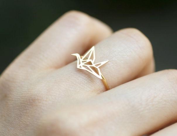 Origami Crane Ring