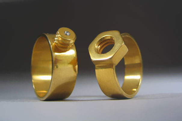 Nut And Bolt Wedding-ring