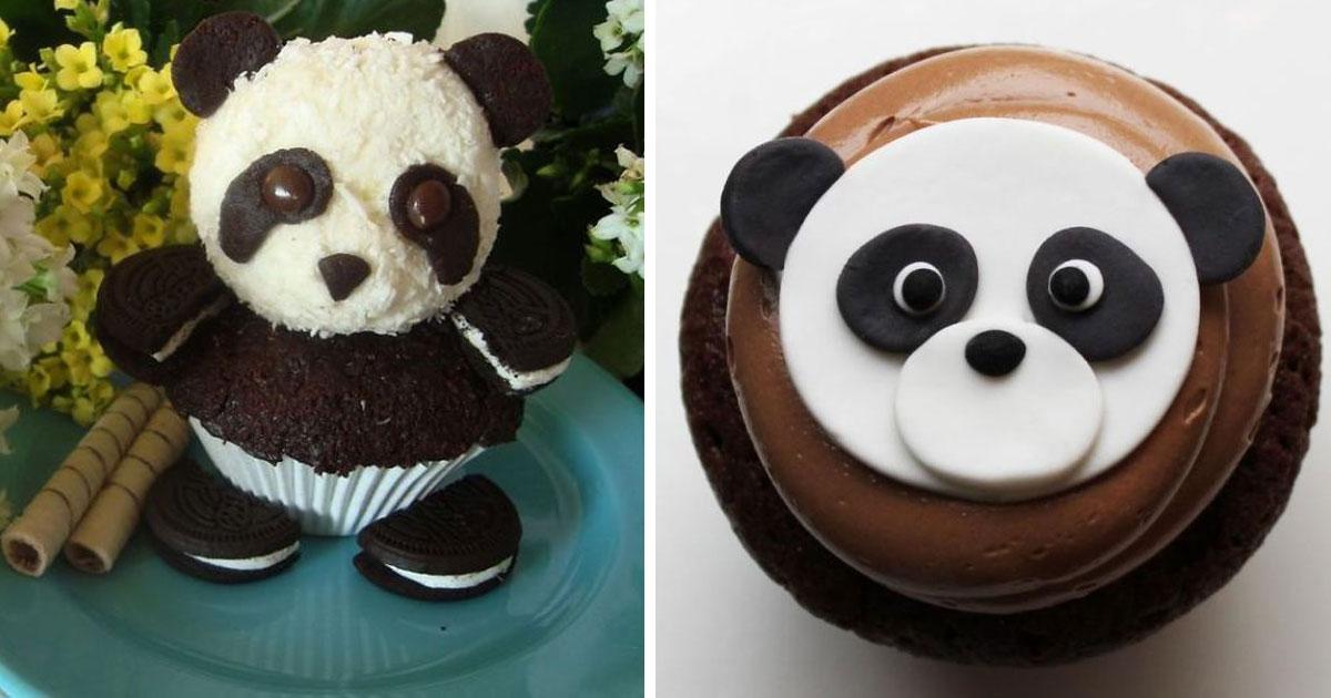 Cute Panda Cupcakes Bored Panda