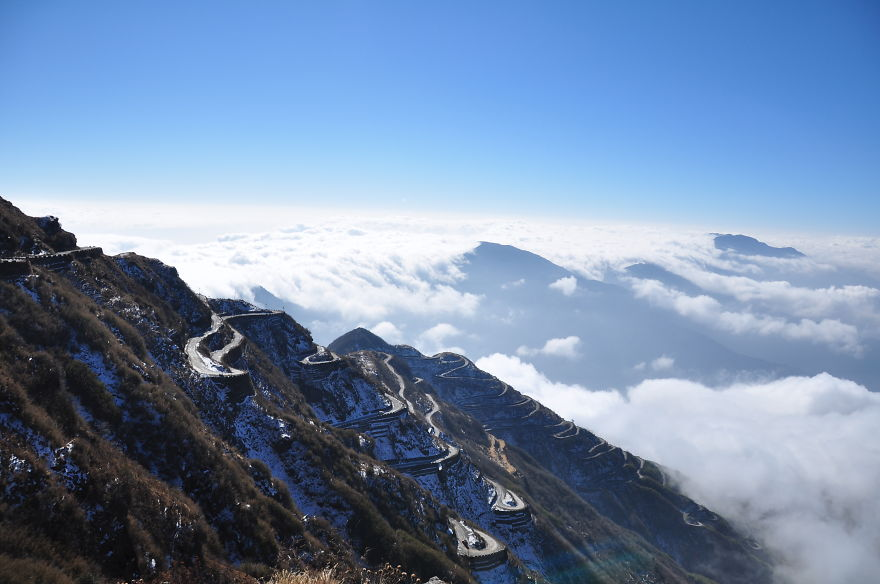 East Sikkim Silk Route, Indian Himalayas Overlooking Tukla Valley & Clouds
