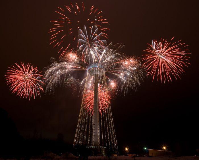 Vilnius Tv Tower During Christmas