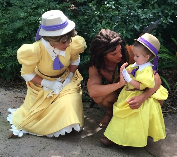 Mom sews incredibly accurate disney costumes for her daughter to tarzan and jane solutioingenieria Image collections