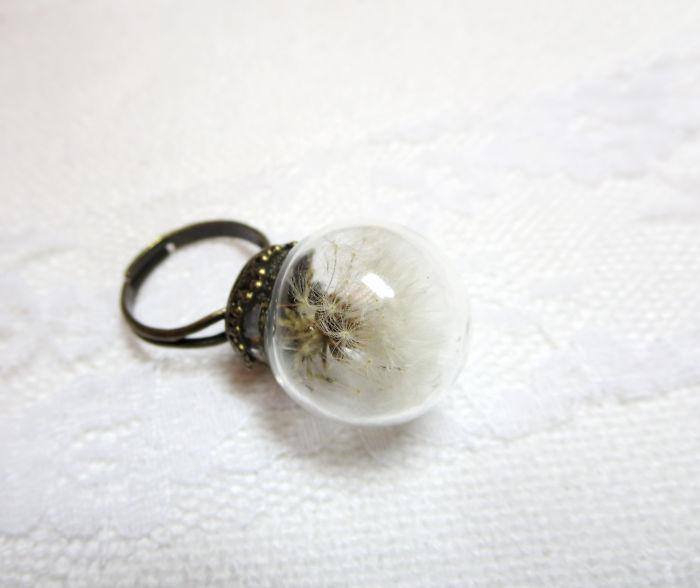Real Dandelion Ring