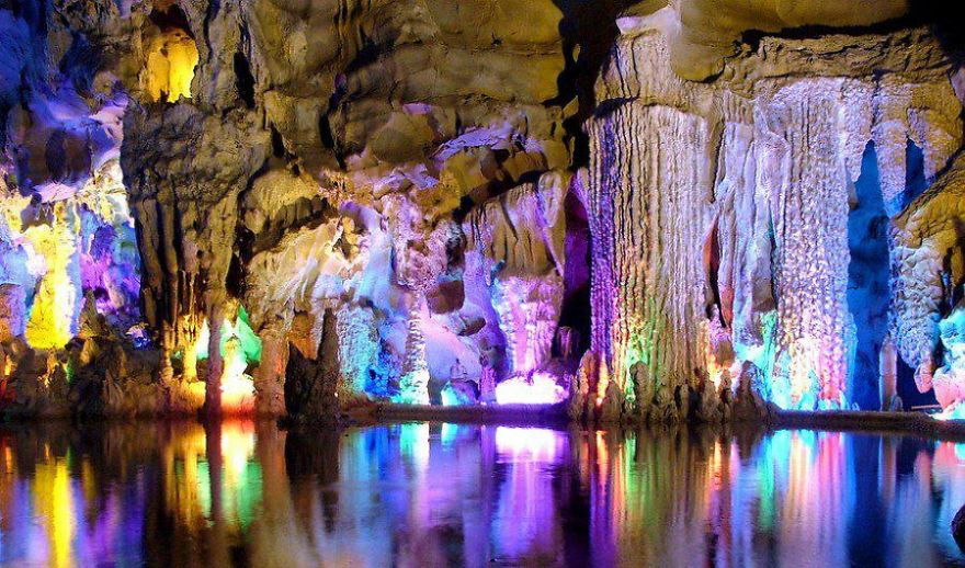 Reed Flute Cave In Guangxi, China