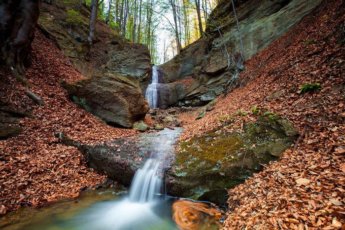Hidden Waterfall In Jiu Valley