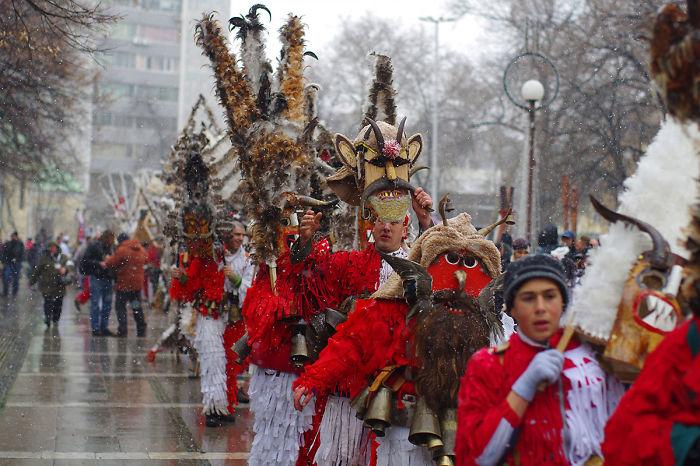 "Masques From Drugan Village, ""survakari"" From Bulgaria"