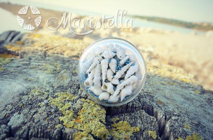 Real Miniature Seashells Ring